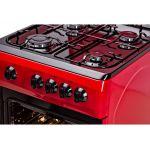 Aragaz LDK 5060 RED FR LPG, 4 arzatoare, Capac metalic, 50x60 cm, 3 ani garantie, Rosu