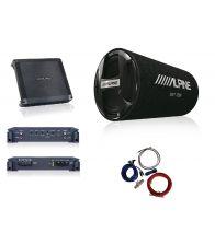 """Pachet ALPINE  Subwoofer tub 30cm (12"""")  SWT-12S4 + Amplificator auto 2 canale BBX-T600 + kit cabluri Aiv 10mm² 350940"""