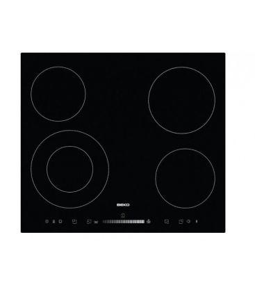 Plita incorporabila BEKO HIC 64502 T, 4 zone, Vitroceramic, Touch-control, 60 cm, Negru